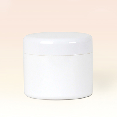 30ml Double Wall White Plastic Jar