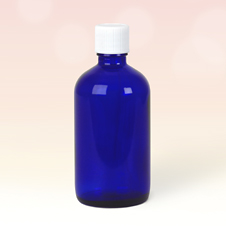 100ml Blue Glass Bottles