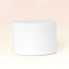 100ml Single Wall White Plastic Jar