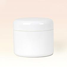 50ml Double Wall White Plastic Jar