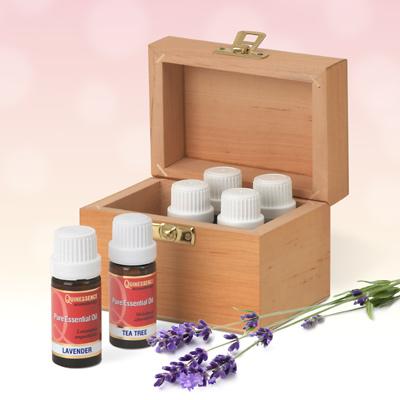 6 X 10ml  'Home Essentials' Oil Kit Plus Free Storage Box