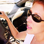 Sunglasses protect your eyes from the blinding sun when driving.