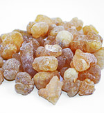 Dried frankincense resin