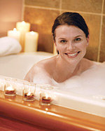 Have a soothing soak . . .
