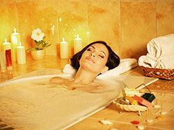 Enjoy a long relaxing aromatherapy bath