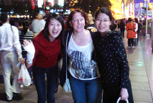 Sue Charles and her Chinese translators hit the town!